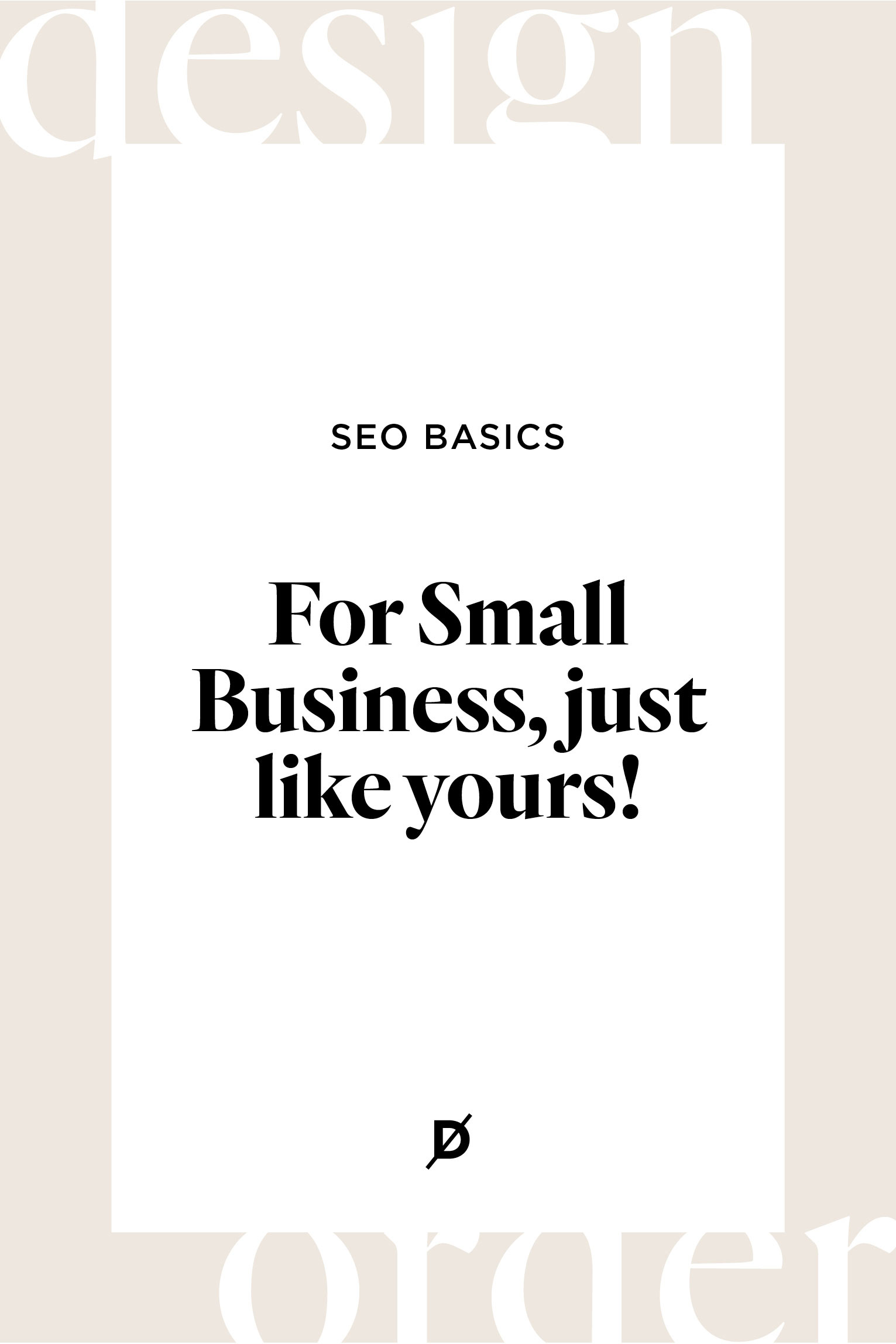 SEO Basics for Small Business (just like yours!)