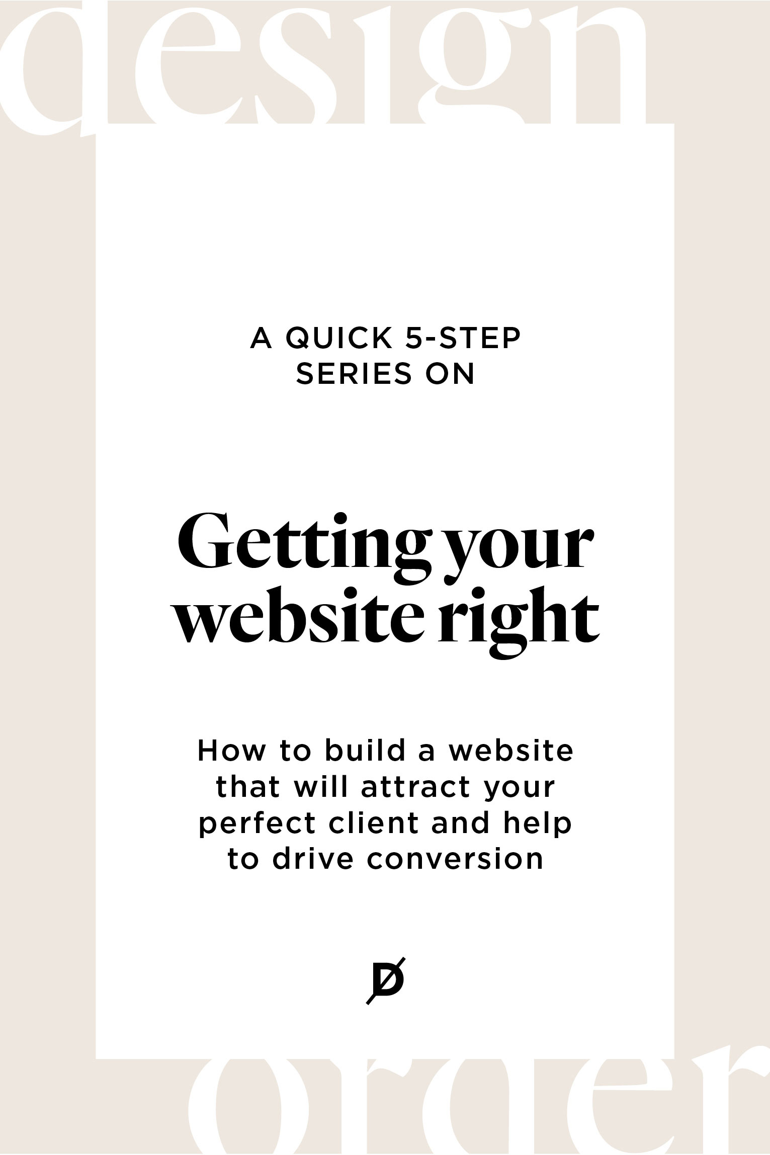 Getting your website right